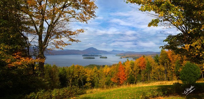 Don Whipple view of Lake Memphremagog